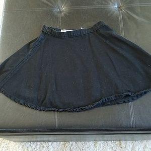 American apparel black circle skirt